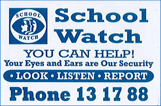 Keep a Watch on our School these holidays
